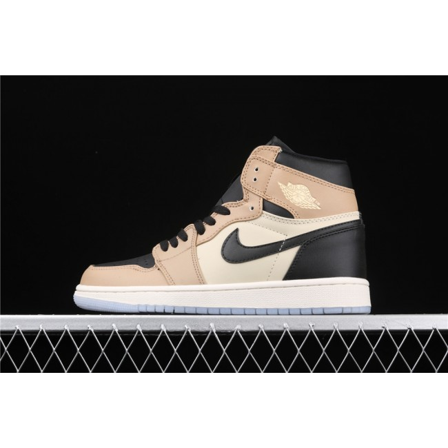Men & Women Air Jordan 1 Classic High Black Khaki
