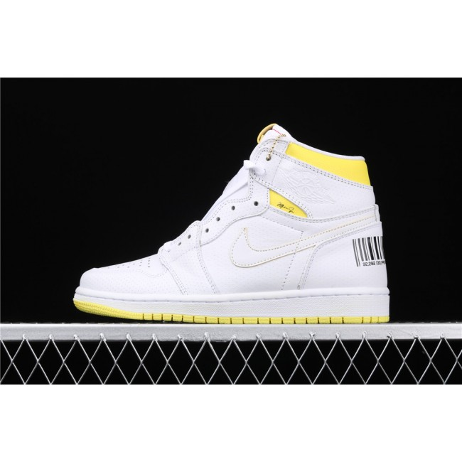 Men & Women Air Jordan 1 High OG First Class Flight Style White