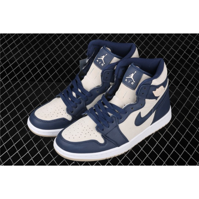 Men & Women Air Jordan 1 High Retro Premium Deep Blue