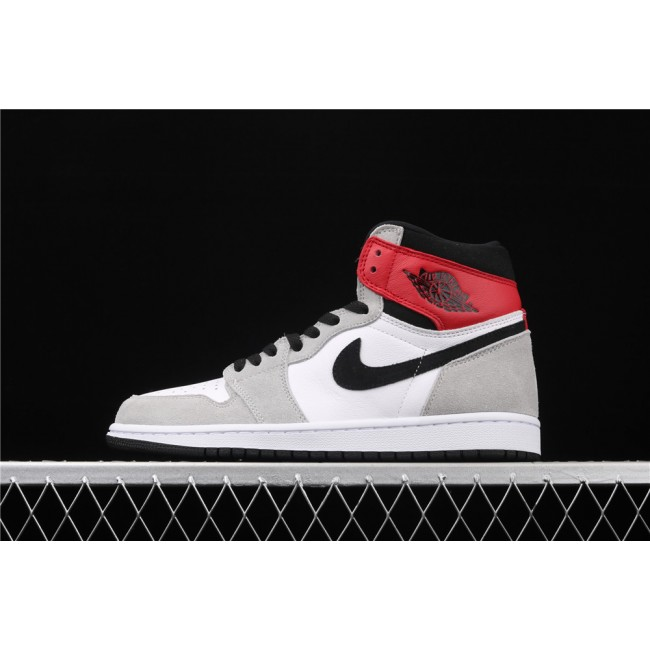 Men & Women Air Jordan 1 High X Light Smoke Grey
