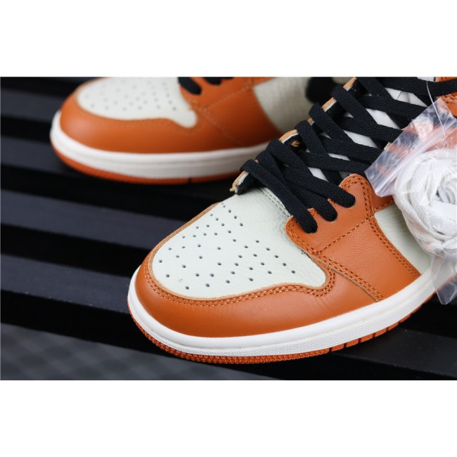 Men & Women Air Jordan 1 Retro High OG White Orange