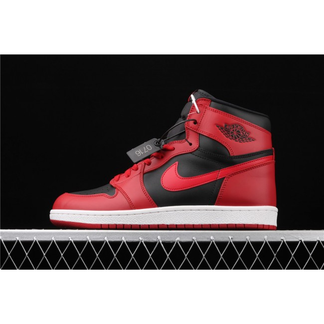 Men Air Jordan 1 High 85 Black Red