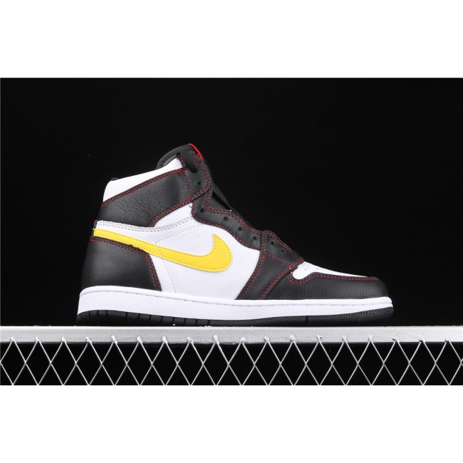 Men Air Jordan 1 High Dynamic Yellow Logo