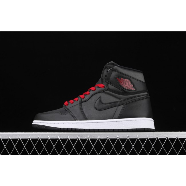 Men Air Jordan 1 High OG Black Satin