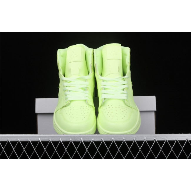 Men Air Jordan 1 High Premium Fluorescent