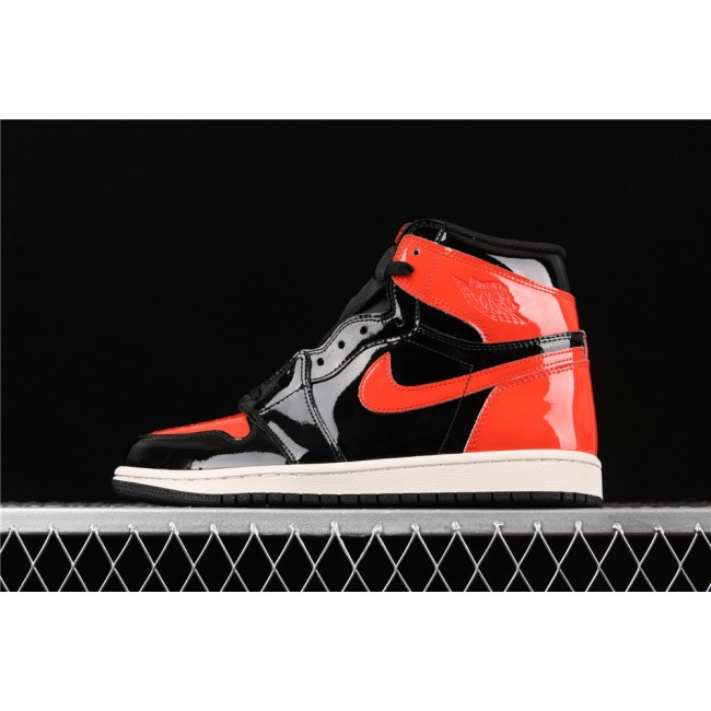 Men Air Jordan 1 High Shattered Backboard Black Red