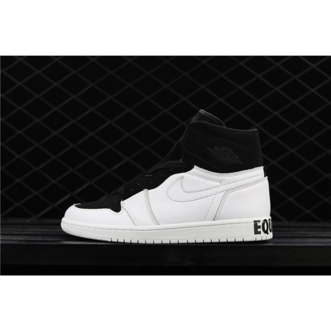 Men Air Jordan 1 Retro High Equality White Black