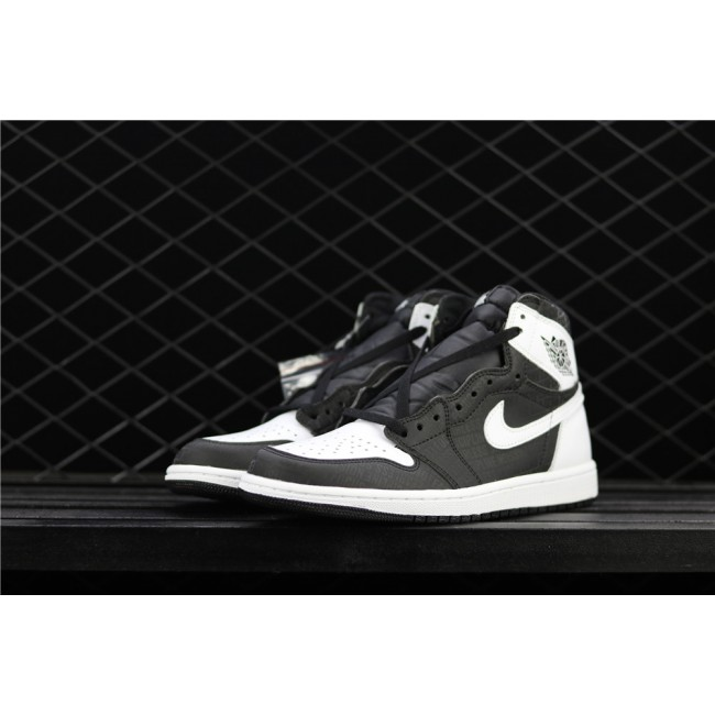 Men Air Jordan 1 Retro High OG Black White 3M