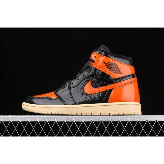 Men Air Jordan 1 Retro High OG Orange Black
