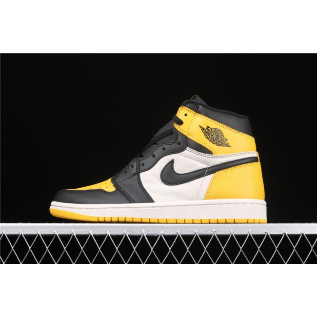 Men Air Jordan Retro High OG Yellow Toe