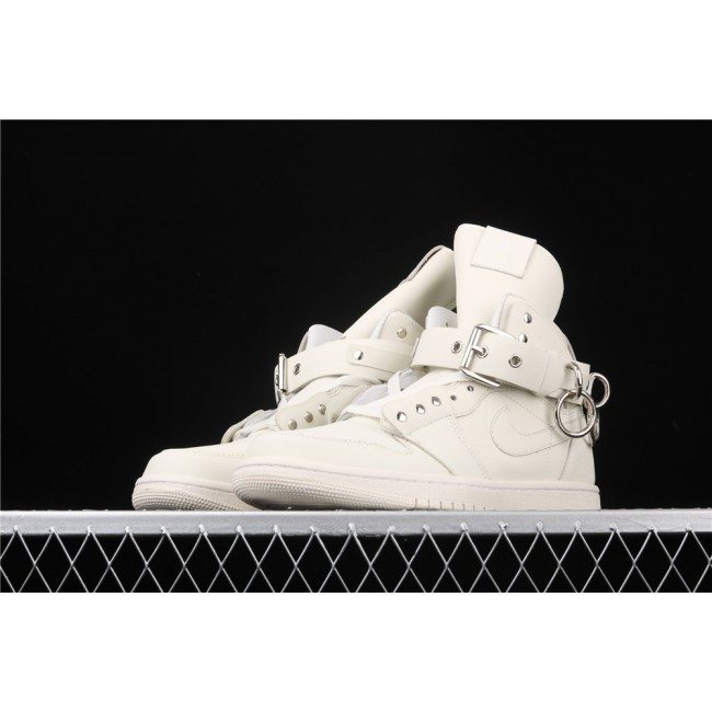 Men Comme Des Garcons Plus x Air Jordan 1 High CDG White
