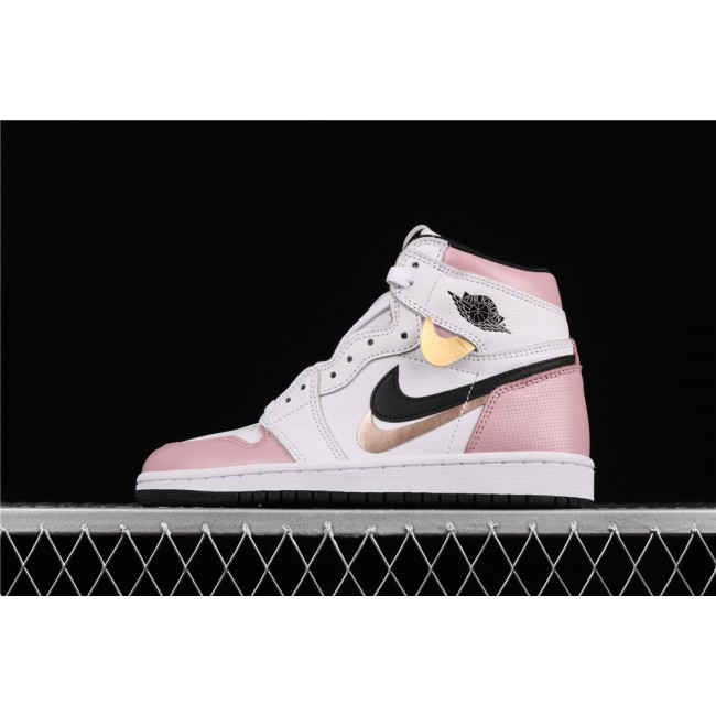 Women Air Jordan 1 Retro High OG Pink White