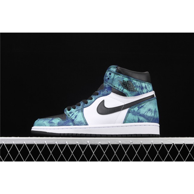 Men & Women X Air Jordan 1 Fashion High Tie Dye