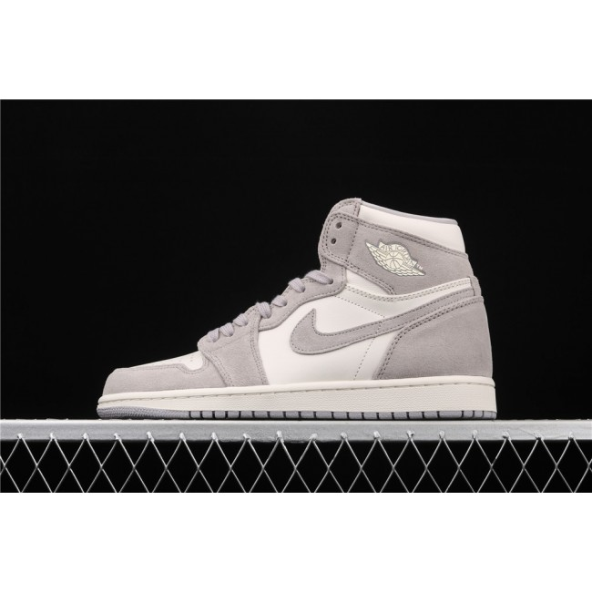 Men & Women X Air Jordan 1 Retro High Prem Gray