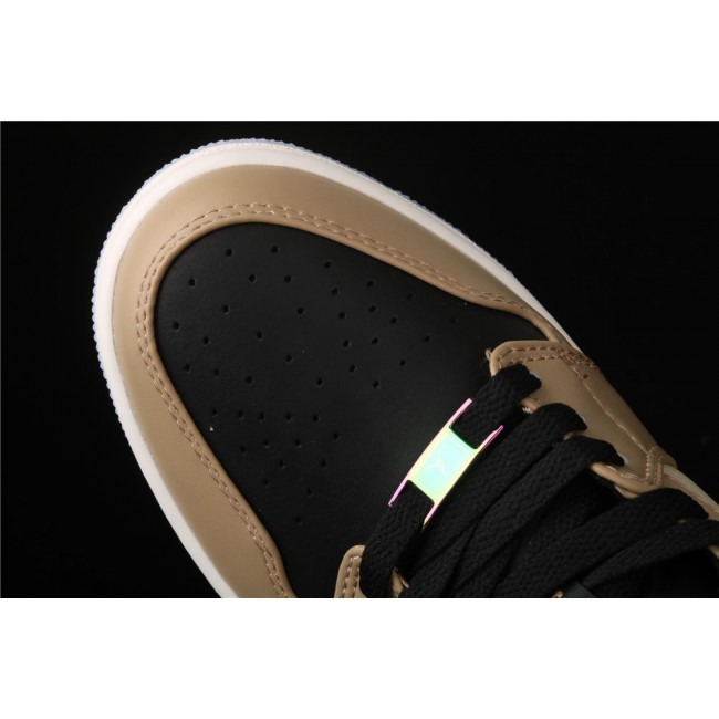 Men & Women Air Jordan 1 Low Black Khaki