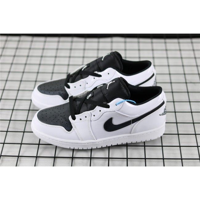Men & Women Air Jordan 1 Low Black White