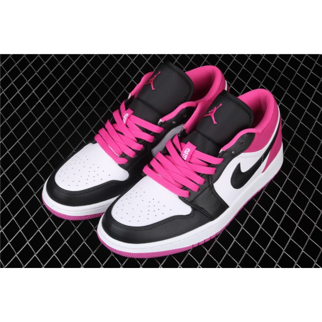 Men & Women Air Jordan 1 Low Magenta Rose Red