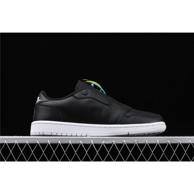 Men & Women Air Jordan 1 Low Ret Low Slip Black White