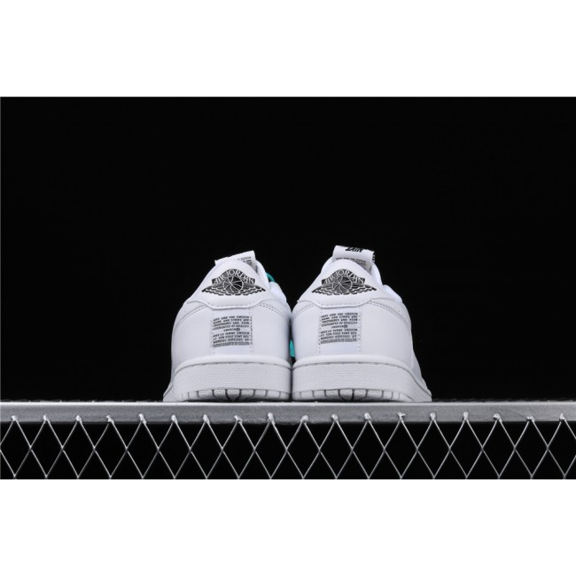 Men & Women Air Jordan 1 Low Ret Low Slip Full White