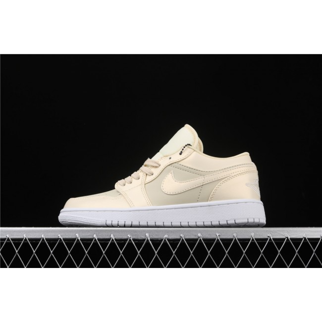 Men & Women Air Jordan 1 Low Sand White