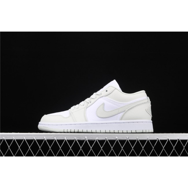 Men & Women Air Jordan 1 Low Spruce Aura White