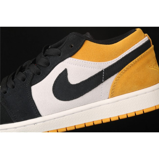 Men & Women Air Jordan 1 Low University Gold Black