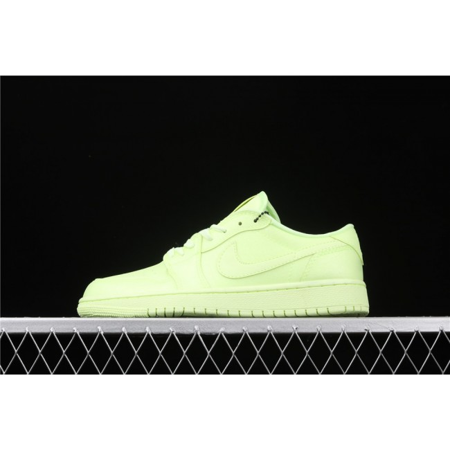 Men & Women Air Jordan 1 Ret Hi Prem Fluorescent Green