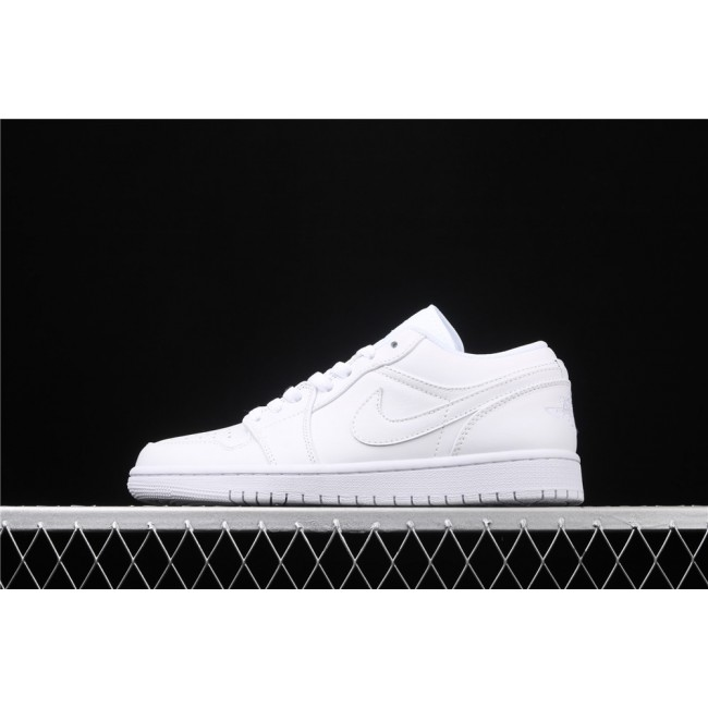 Men Air Jordan 1 Low Full White