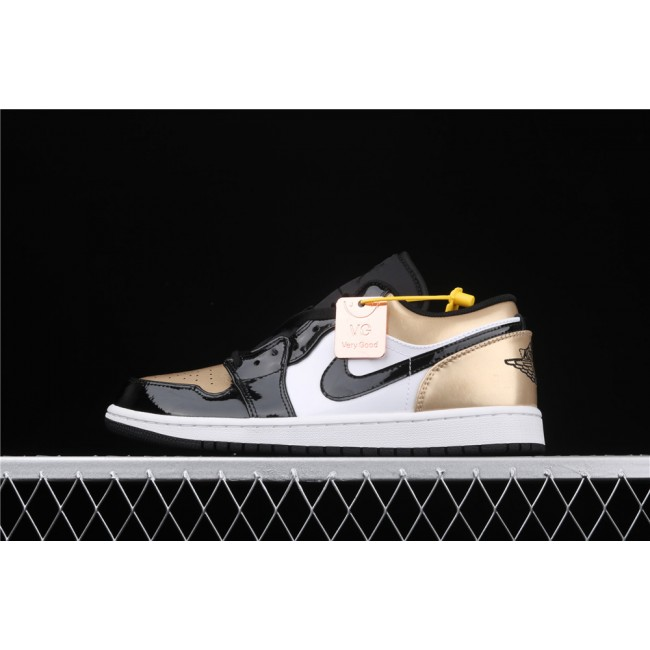 Men Air Jordan 1 Low Golden Black White