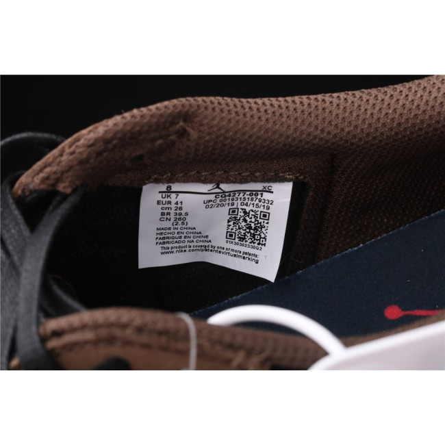Men Travis Scott x Jordan 1 Low OG Reverse Logo