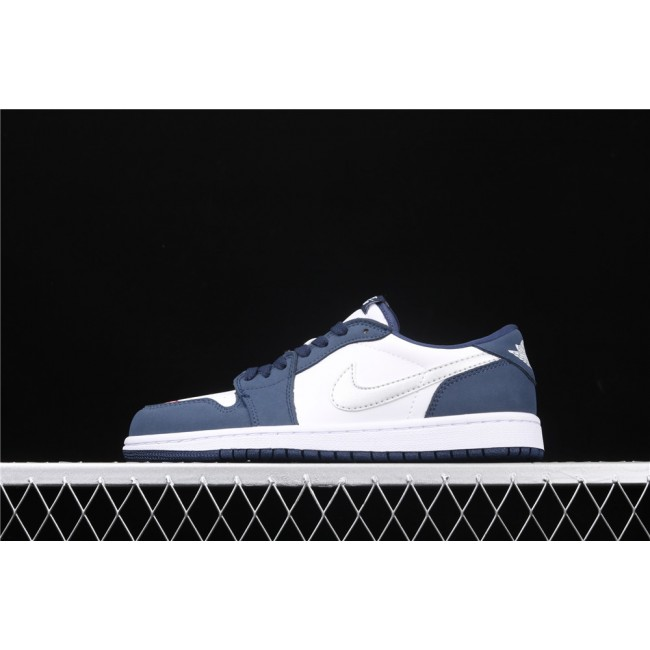 Men & Women Nike SB Low x Air Jordan 1 Blue White
