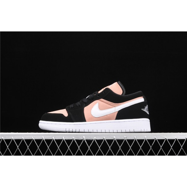 Women Air Jordan 1 Low Black Pink