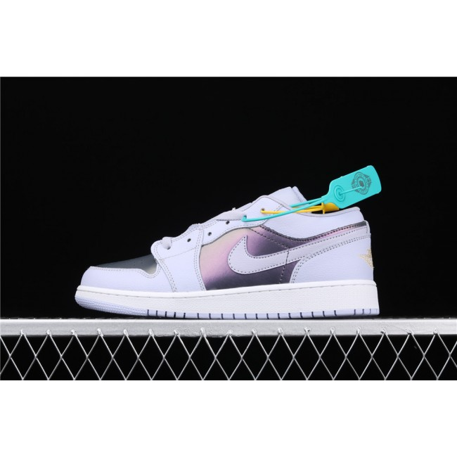 Women Air Jordan 1 Low Electric Purple White