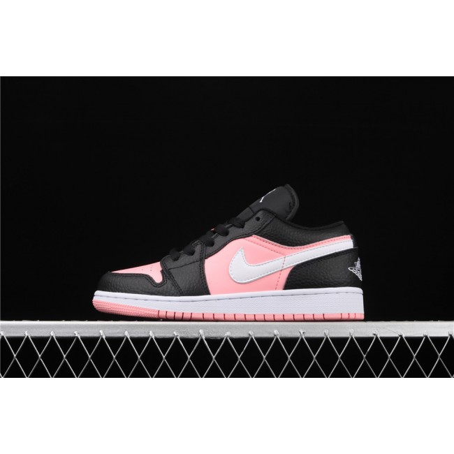 Women Air Jordan 1 Low Pink Black