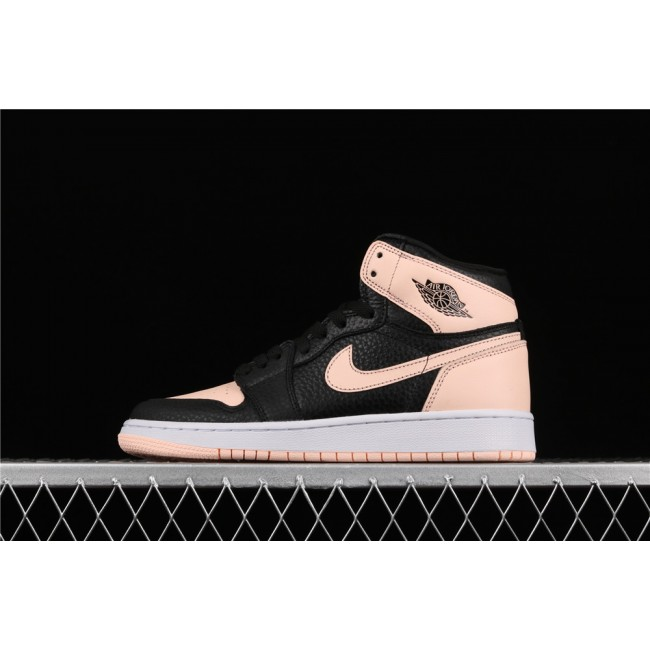 Men & Women Air Jordan 1 Crimson Tint In Black Pink