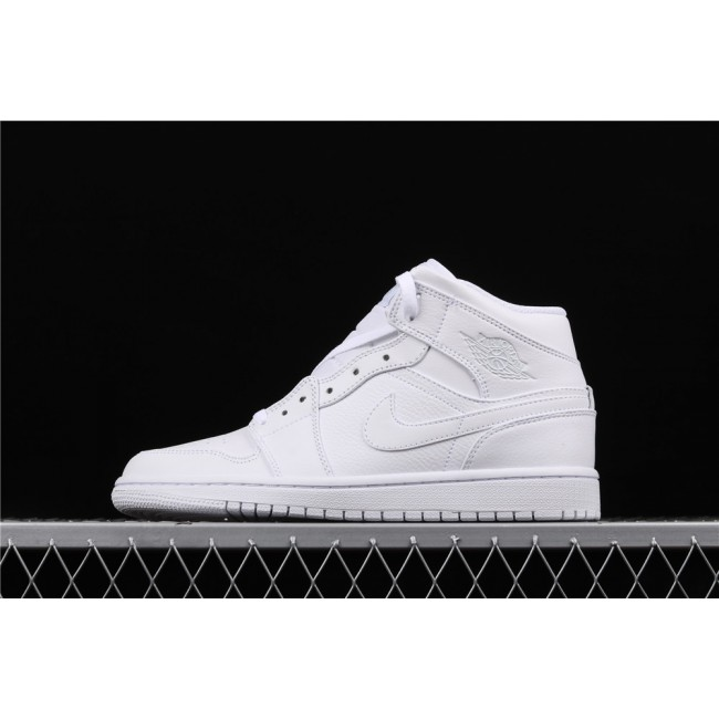 Men & Women Air Jordan 1 Mid In Full White