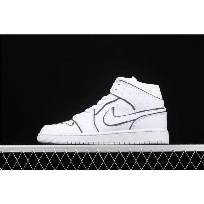 Men & Women Air Jordan 1 Ret Prem Laser Luminous In White
