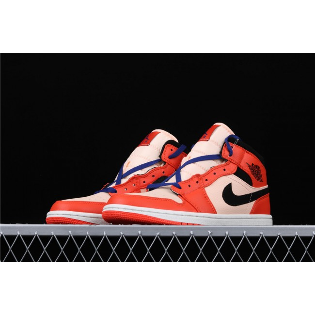 Men Air Jordan 1 Mid GS In Orange Black