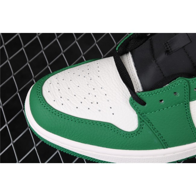 Men Air Jordan 1 Mid Pine Green In White