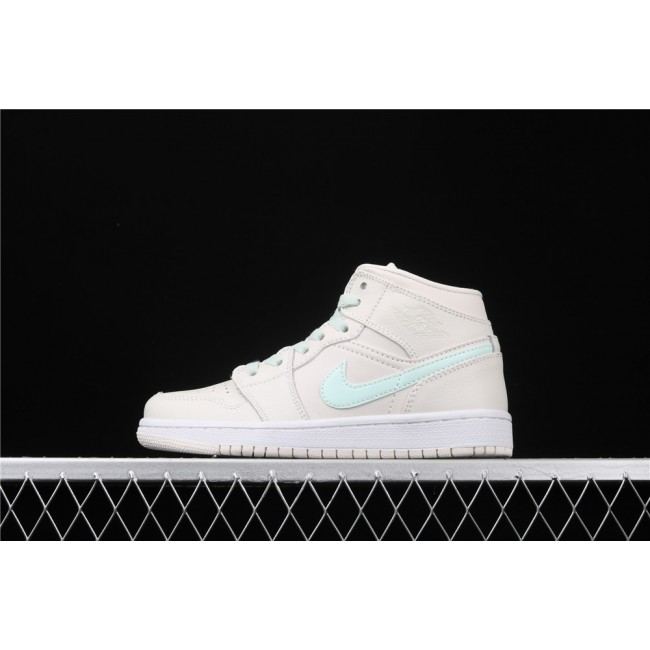 Women Air Jordan 1 Mid Ret In Cream White