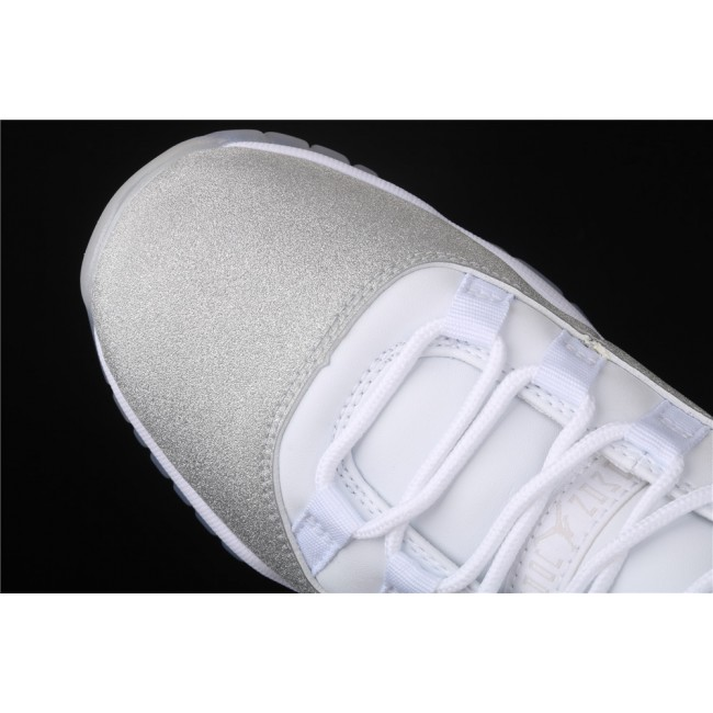 Men & Women Air Jordan 11 In White Light Gray
