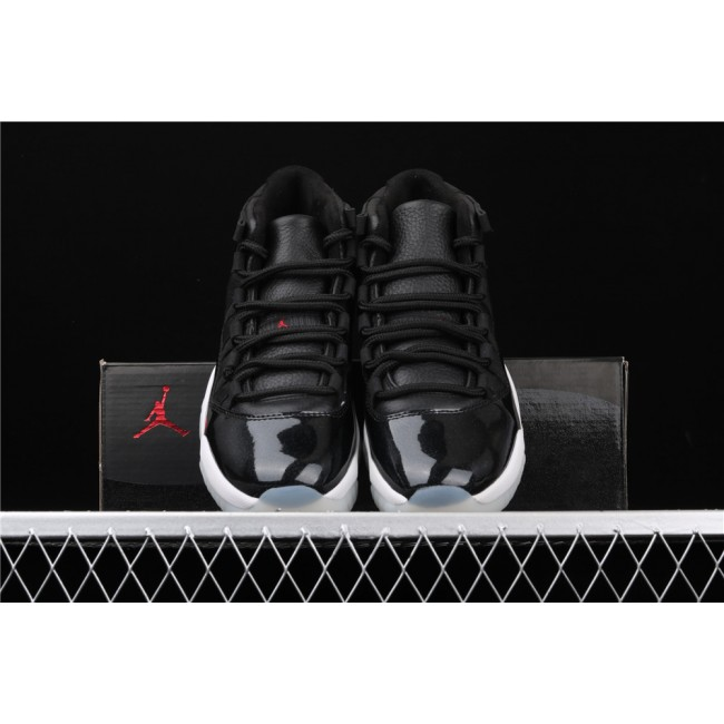 Men Air Jordan 11 72 10 In Black White