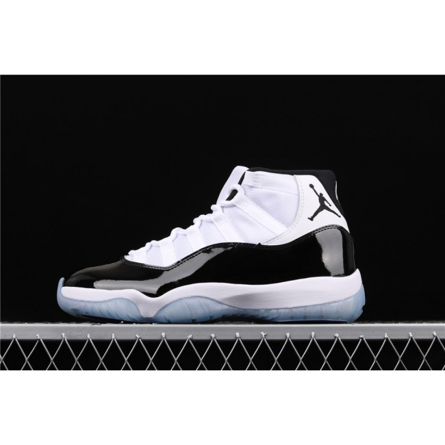 Men Air Jordan 11 Concord In Black White