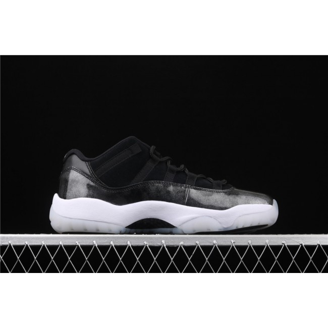 Men Air Jordan 11 Low Dunk Carbon Fiber In Black White