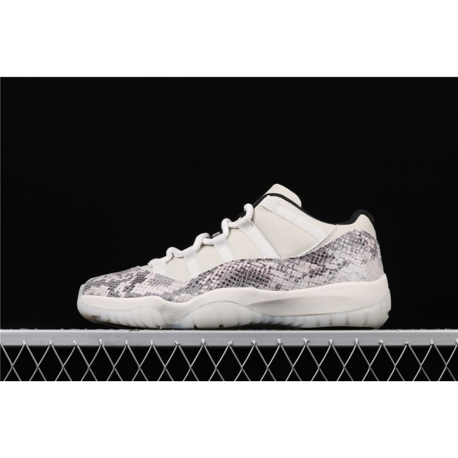 Men Air Jordan 11 Low SE Snakeskin In Milk White