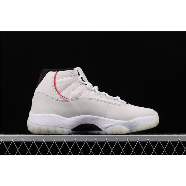 Men Air Jordan11 Platinum Tint In Milk White