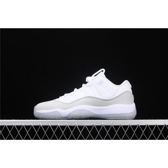 Women Air Jordan 11 Low In White Light Gray
