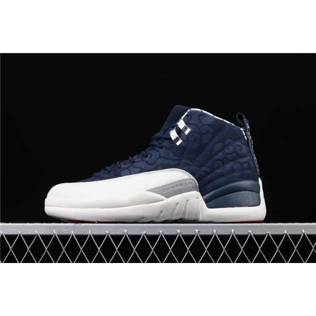 Men Air Jordan 12 International Flight In Blue White
