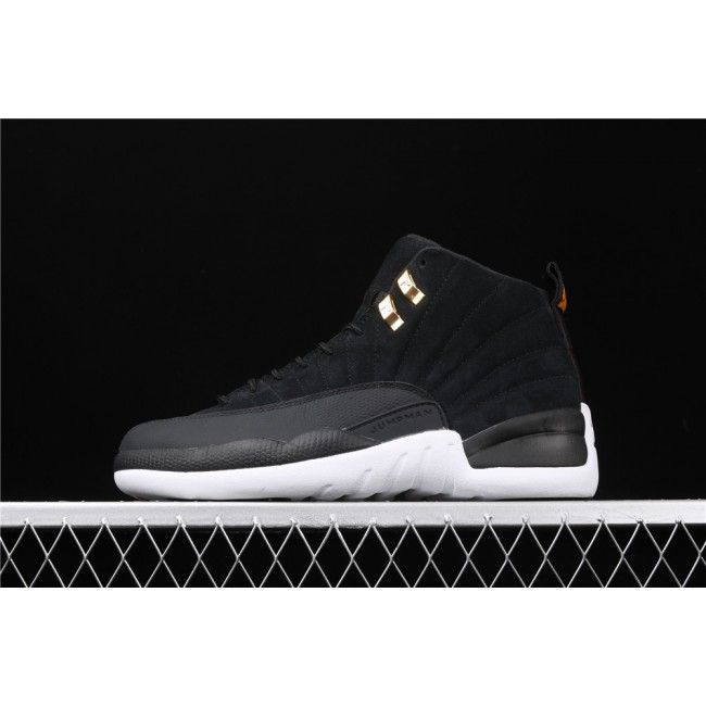 Men Air Jordan 12 Reverse Taxi In Black White