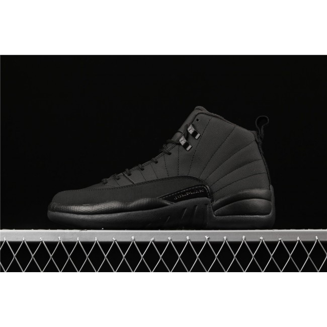 Men Air Jordan 12 retro Wntr FamilyPack Full Black